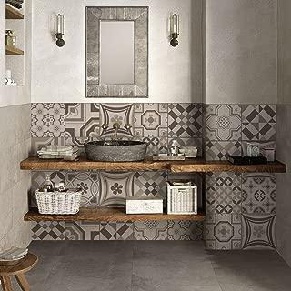 32 (Piezas) Adhesivo para Azulejos 15x15 cm - PS00151 - Riga Tortora - Adhesivo Decorativo para Azulejos para baño y Cocina - Stickers Azulejos - Collage de Azulejos