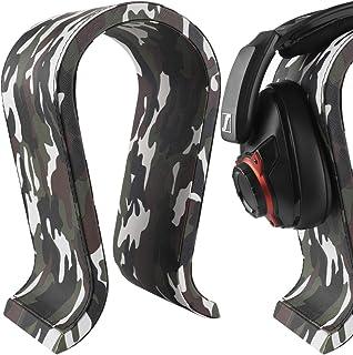 $28 » Geekria Leather Headphone Stand for Senheiser, JBL, Hyperx, Razer, Turtle Beach, Sony PS4 Headset Stand Headphone Holder U...