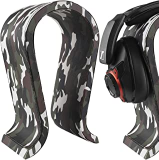 Geekria Leather Headphone Stand for Sennheiser, JBL, Hyperx, Razer, Turtle Beach, Sony PS4 Headset Stand Headphone Holder ...