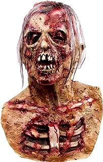 molezu Máscara de Cabeza Muerta de Walking Dead, máscara de Monstruo Malvado residente, máscara de látex de Goma para Fiesta de Disfraces de Zombie para Halloween