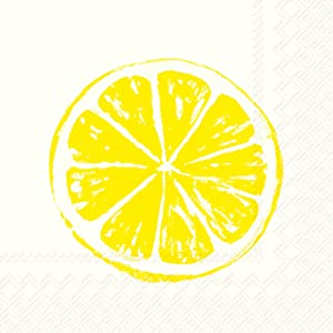 Ideal Home Range 20 Count Lemon Bar Paper Cocktail Napkins