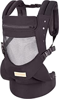 Sponsored Ad - Infant Toddler Baby Carrier Wrap Backpack Front and Back, Hip Seat & Hood, Soft & Breathable Cotton, Cool A...