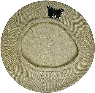 Landana Headscarves Green Butterfly on Beret for Women 100% Cotton