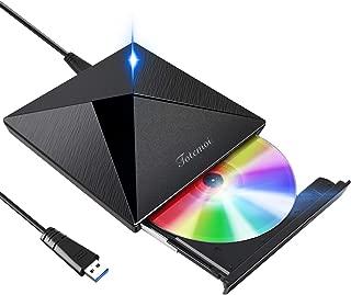 【最新版】 DVDドライブ 外付け USB 3.0 DVD プレイヤー ポータブルドライブ CD/DVDドライブ CD/DVD読取/書込DVD±RW CD-RW USB3.0/2.0 Window/Mac OS/XP/Vista対応 静音 高速 軽量 コンパクト スリム