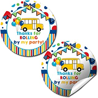 Wheels On The Bus Thank You Sticker Labels, 40 2