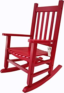 rockingrocker - K086RD Durable Red Child's Wooden Rocking Chair/Porch Rocker - Indoor or Outdoor - Suitable for 4-8 Years Old
