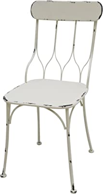 Better & Best Silla Barrotes, Metal, Blanco, 40x40x87 cm