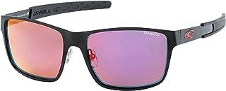 O'Neill Clipper Polarized Rectangular Sunglasses Matte Black 56 mm