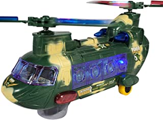 ANJ Kids 2019 Holiday Helicopter Toy for Kids | Battery Operated Bump N Go, Beautiful Flashing Lights and Realistic Sounds Effects Toy Helicopter