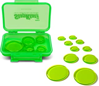 SlapKlatz PRO Drum Dampeners (Alien Green)   3 Different Sizes for Optimal Drum Sound   10 Pieces of Superior Drum Gel   FREE rugged case included  Non-toxic