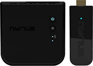 Nyrius Aries Pro+ Wireless HDMI Video Transmitter & Receiver to Stream 1080p Video up to 165ft from Laptop, PC, Cable Box,...