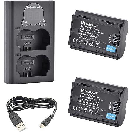 Newmowa Np W235 Ersatzakku Und Smart Lcd Dual Usb Kamera