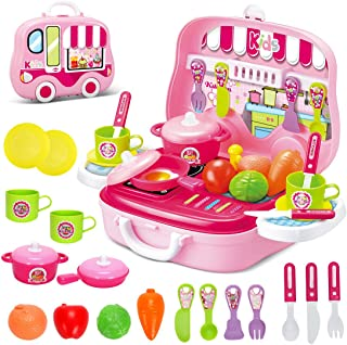 Dreamon Set Utensilios de Mini Cocina de Juguete Incluye Mú