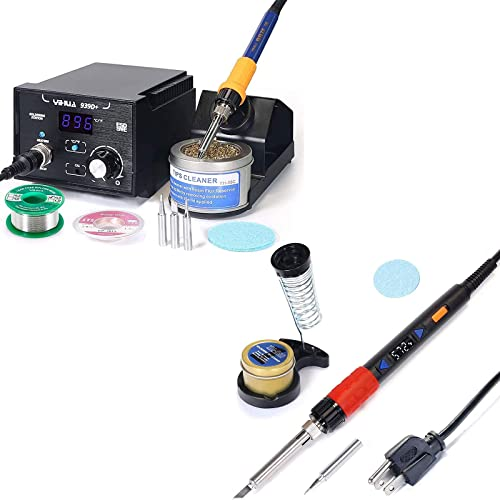 lowest YIHUA 939D+ Professional Soldering Station bundle with YIHUA 928D-III High Power outlet online sale Soldering Iron as Secondary/Backup Iron Holder, Soldering Cleaning online sale Kit, and Accessories (15 Items) outlet online sale