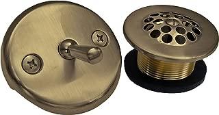 Simpatico 34851A Bath Tub Trip Lever Plate with Screws, 1-1/4