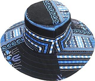 RaanPahMuang Large Rimmed American South Sunhat African Dashiki Printed Hat