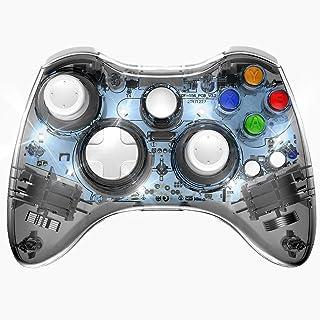 PAWHITS Xbox 360 コントローラー 無線 ワイヤレスコントローラー ゲームパッド ジョイスティック イヤホンジャック Xbox 360/Windows PC対応 Bluetooth接続 ブルートゥースゲームハンドル(ブラック)