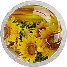 Lade handgrepen trekken ronde kristallen glazen kast knoppen keuken kast handvat,bloem veld