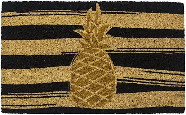 Entryways Golden Pineapple Non Slip Coconut Fiber Doormat 17 X 28 X 5