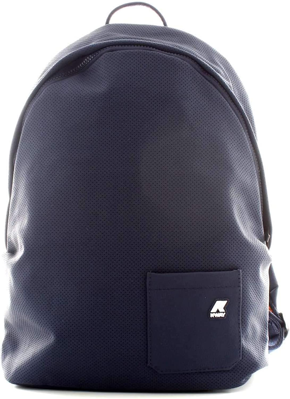 K-Way Herren K-Sleek Perf Backpack-0a3 Rucksack, Blau (0a3 Navy), 14.5x41x28 centimeters