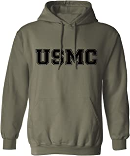 USMC Athletic Marines Hooded Sweatshirt in Military Green