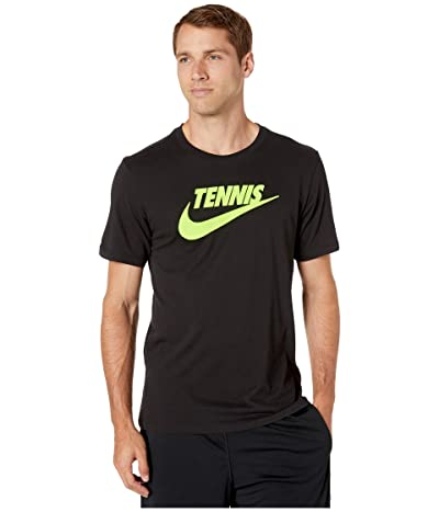 Nike NikeCourt Tee Tennis GFX (Black/Volt) Men