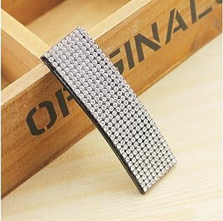 Osize 美しいスタイル 長方形のラインストーンBBクリップバングヘアピンサイドクリップヘアピン(フルホワイトダイヤモンド)