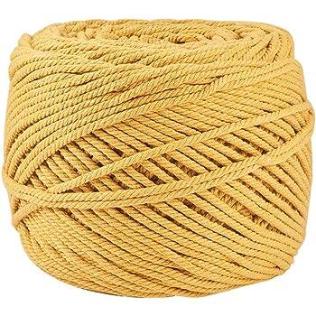 BENECREAT 200m Cuerda Cordel de Algodón Natural 100% Puro Cordón ...