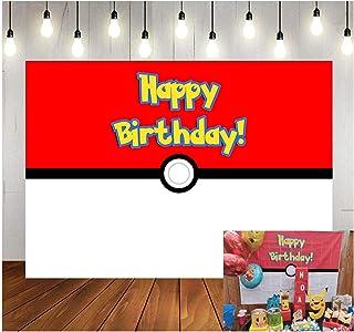 Fotohintergrund für Kinder, Motiv: rote weiße Kugel, für Geburtstagsparty, Vinyl, Spiele, Jungen, Fotografie, Requisiten, 150 x 90 cm