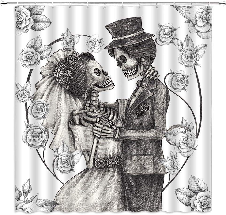 Charlotte Mall dachengxing Halloween Skull Decor Skeleton Lover New arrival Curtain Shower