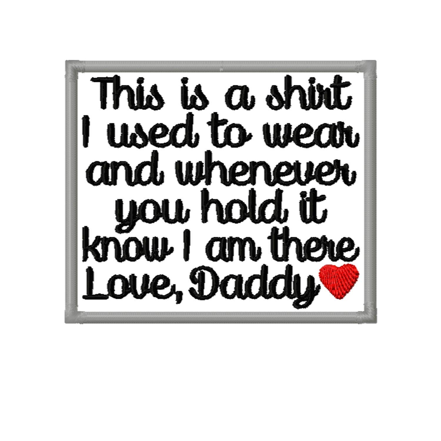 Memory Patch This is a shirt I Daddy to New item wear w Heart Love used Ranking TOP8