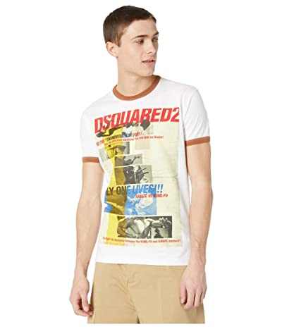 DSQUARED2 Only One Lives T-Shirt (White/Hazelnut) Men