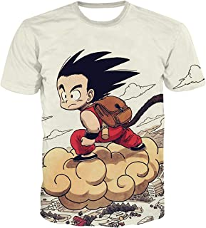 Unisex Adult and Youth Big Boys Dragon Ball 3D Print Short Sleeve Fit T-Shirt