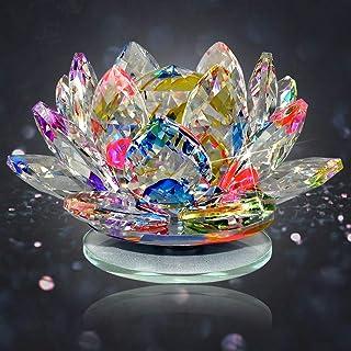Reiki Crystal Products Glass Vastu Fengshui Lotus, Standard, Multicolour