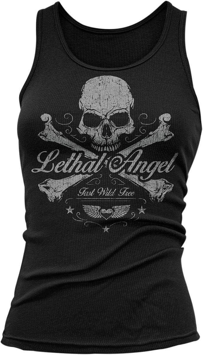 Skull N Crossbones Lethal Threat Womens Shirt Black, XX-Large
