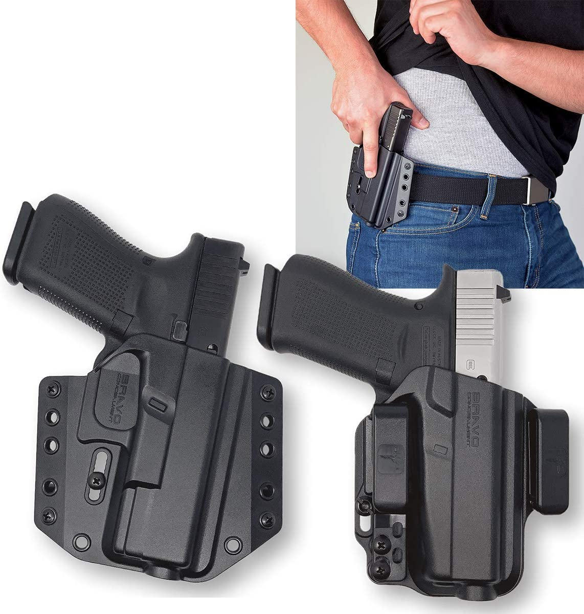 Bravo Dealing full price reduction Popular Concealment OWB IWB Holsters Concealed Carry