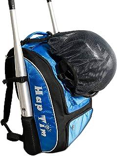 کوله پشتی مخصوص تجهیزات بیس بال ، T-Ball و Softball و تجهیزات مخصوص کودکان ، نوجوانان و بزرگسالان | کفش ، کلاه ایمنی ، دستکش ، کفش | محفظه کفش جداگانه و قلاب نرده ای را نگه می دارد