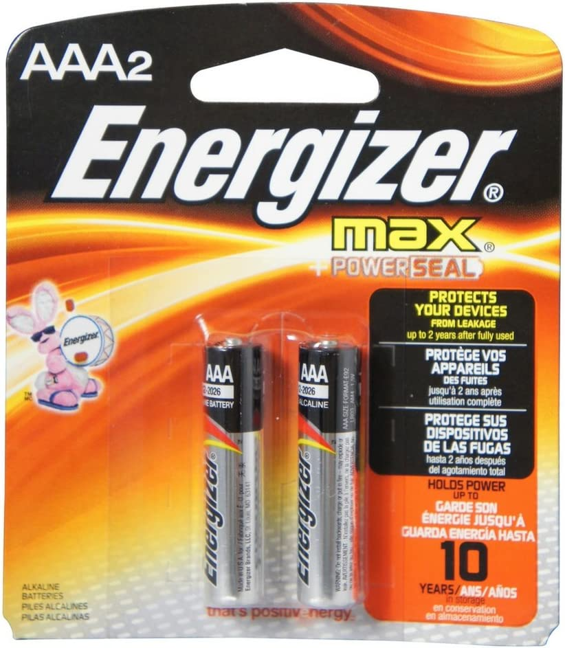 Energizer Max 59% OFF MAX Alkaline Batteries AAA 2 Each Shipping included