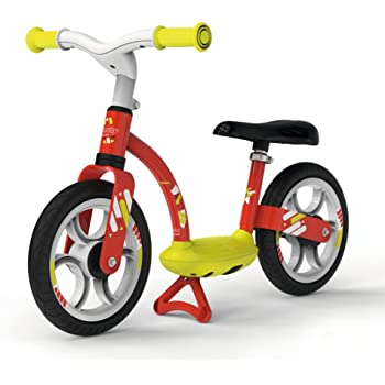 Smoby - 770122 - Draisienne Confort - Selle Réglable + Roues Silencieuses - Rouge