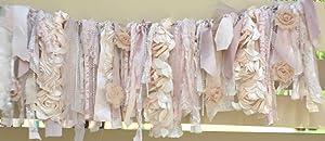 Shabby Chic Soft Rag Tie Garland : ~ Photo Shoot ~ Vintage ~ Wedding Decor ~ Nursery ~ Bridal Shower ~ Birthdays ~Gender Reveal Parties ~ Decorations ~ Photo Props ~ Wall Decor! (3 FEET Wide)
