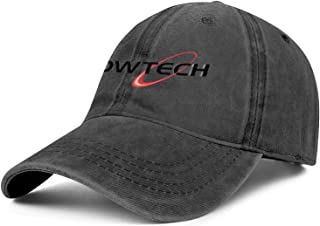 Unisex Man Denim Baseball Hat Cute Adjustable Mesh Sun-Bowtech-Bow-Tech-Logo-Flat Caps