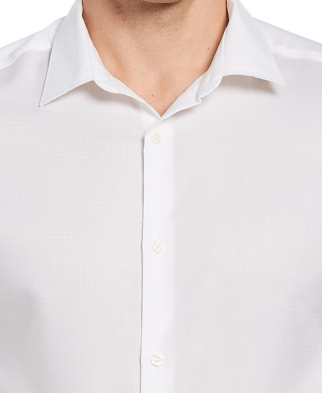 Perry Ellis Men's Solid Dobby Performance Dress Shirt