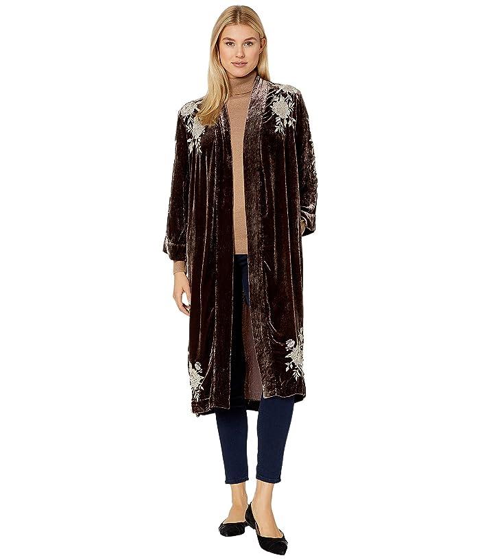 1920s Shawls, Wraps, Scarves, Fur Stole Johnny Was Santal Velvet Kimono Coat Coco Womens Clothing $219.00 AT vintagedancer.com