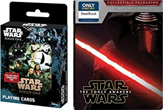 Star Wars Steelbook The Force Awakens Exclusive set with Playing Cards Tin collectible Movie