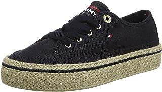 Tommy Hilfiger Jute Detail Flatform Sneaker, Scarpe da Ginnastica Basse Donna