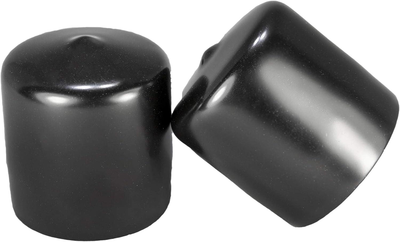 20 Flexible Pipe Post Rubber Cover Prescott Plastics 3//8 Inch Round Black Vinyl End Cap