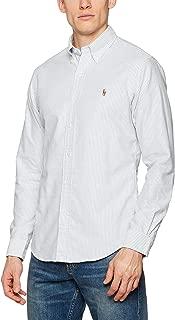 Ralph Lauren Mens Slim Fit Striped Button-Down Shirt Blue XL