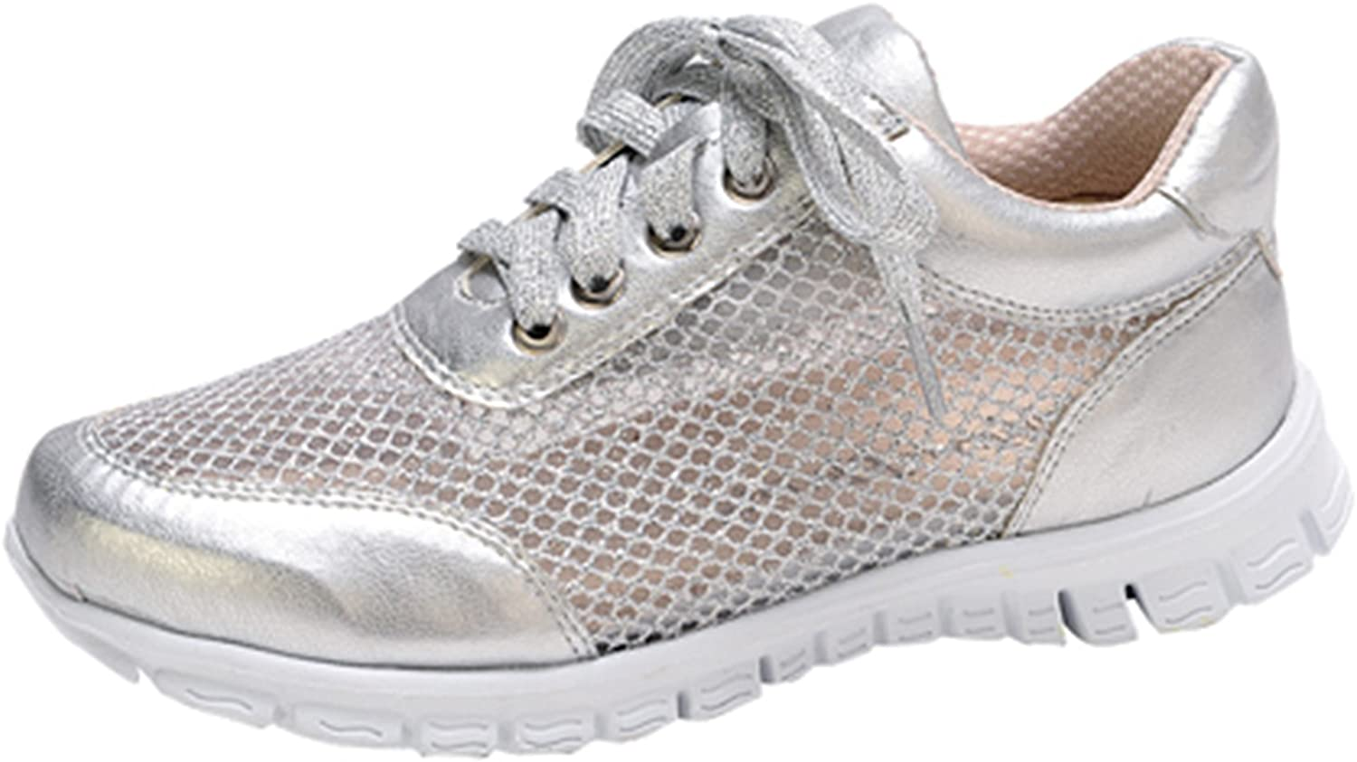 Nature Breeze Women's Mesh Up Lightweight Fashion Comfortable Almond Toe Sneaker