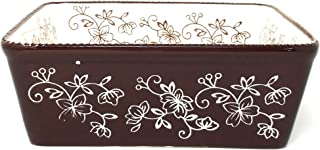 Temp-tations 8x8 Brownie Baker 1.5 Qt Square Casserole Dish Replacement (Floral Lace Chocolate) U125