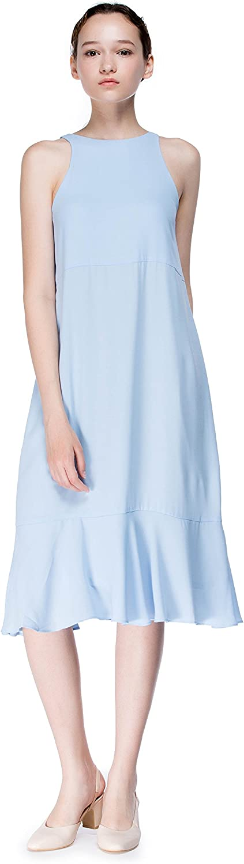 Billie's Dress Boutique Gentle Glow Long Flounced Dress in Pastel bluee